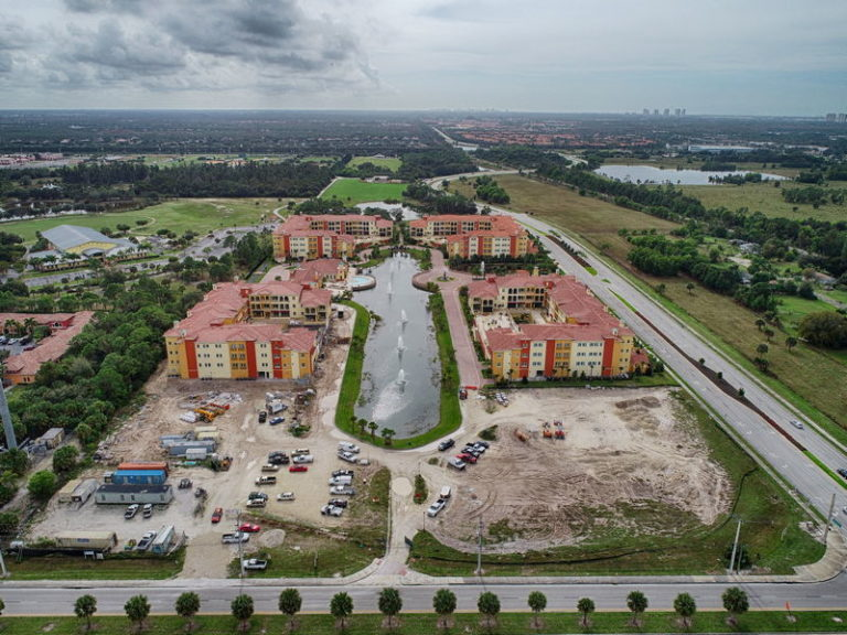 Progress Photography of Condo Complex in Estero Florida