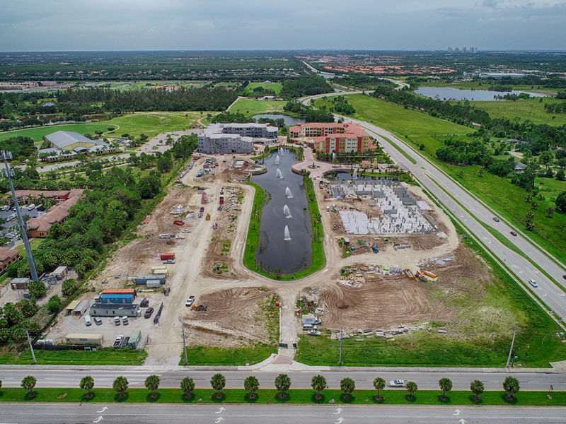 progress photography of condo complex in Estero, Florida