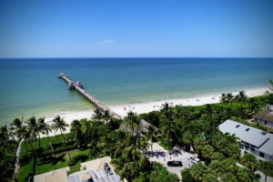 Naples pier aerial photography
