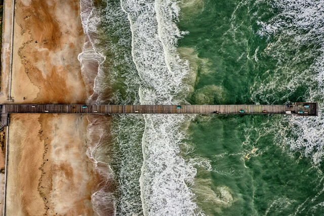 st augustine pier aerial photograph