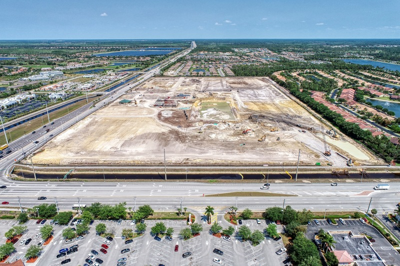 Construction Progress Photography of Founders Square Naples