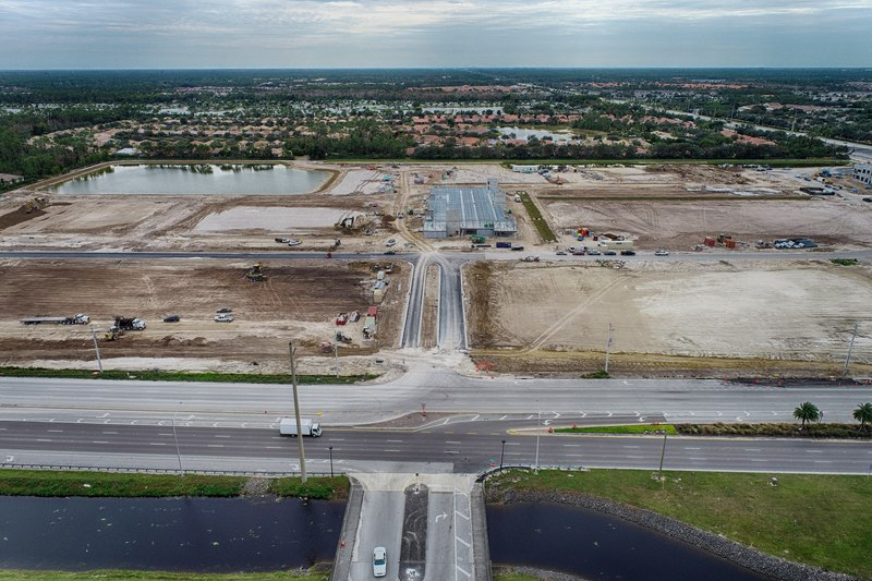 Construction Progress Photography of Founders Square Naples as of Dec 2020