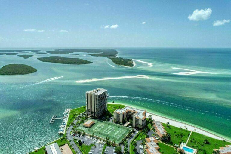 caxambas pass marco island drone photo