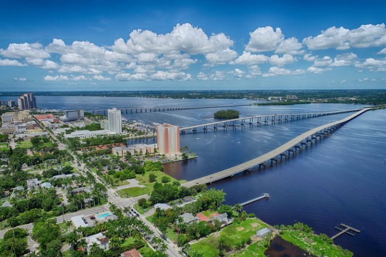 Downtown Fort Myers drone photography