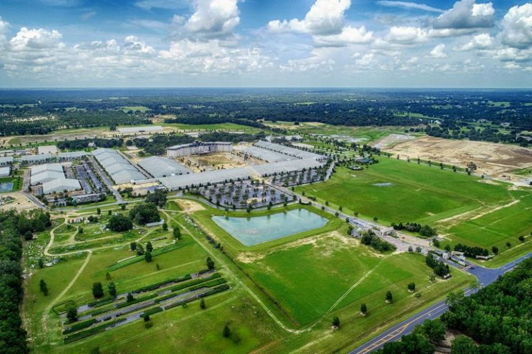 Aerial Drone Photography of The World Equestrian Center being built in Ocala, Florida