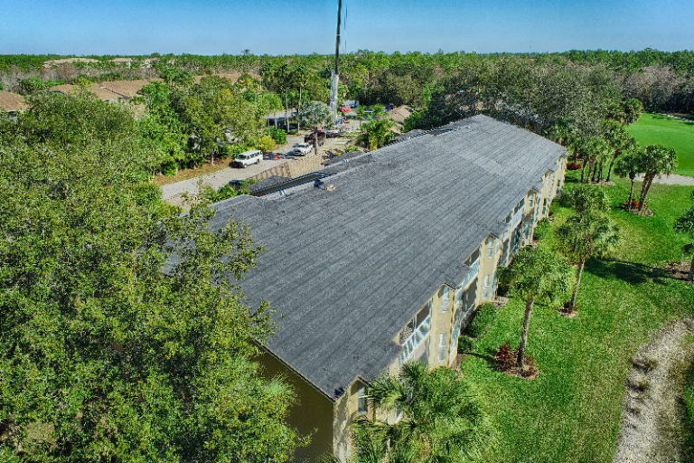 aerial construction roofing photography in florida