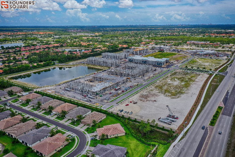 drone construction progress photography in florida